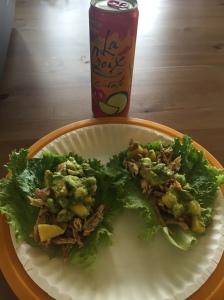 Grilled Chicken with Mango Salsa - served in lettuce wraps...this time