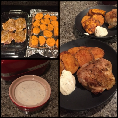 Chicken Thighs and Sweet Potatoes